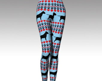 Bull Terrier Silhouette Leggings