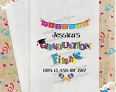 10 Pak FIESTA Graduation Favor Bags /  / 5x7 / Boy Girl / Personalized / Popcorn Cookie Candy Gift Bags / 3 Day Ship