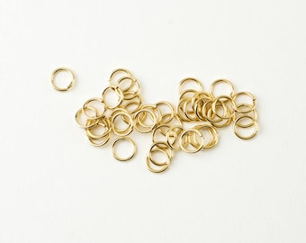 100pcs 14K Gold Filled 6mm Open Jump Rings 20 Gauge, Made in USA