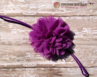 30% OFF SPRING SALE Purple Flower Headband, Emma Petal, Newborn Headband, Baby Headband, Infant Headband, Photo Prop, Flower Girls, Weddings