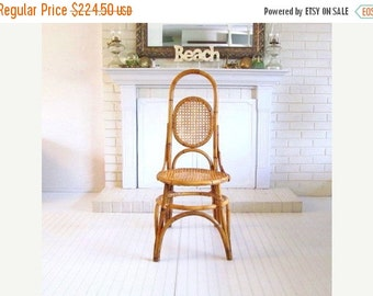 On Sale Vintage Tall Cane and Bentwood Chair