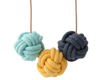 Santorini nautical knot necklace
