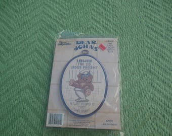 cross stitch pattern kit / three needles / dear john / counted thread cross stitch / savannahwillow