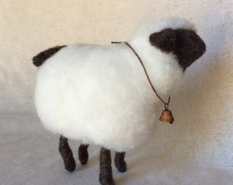Wooly Brownfaced Sheep For Country Home Decor
