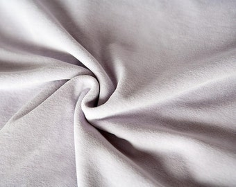 Lavender velour fabric in organic cotton. Organic velvet fabric in mauve by the 1/2 meter.