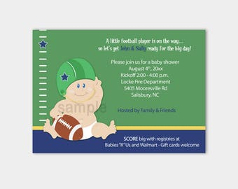 Football Baby Sports Theme Baby Shower Invitatons Print your Own Pdf File EDITABLE TEXT Instant Download bs-058