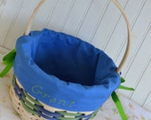 Custom Blue and Green Easter Basket