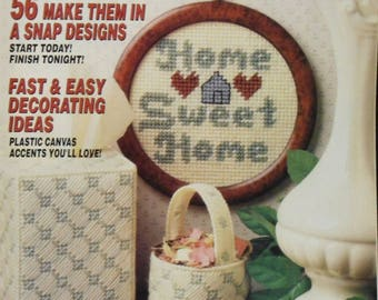 Vintage Quick & Easy Plastic Canvas Magazine No 2 1989