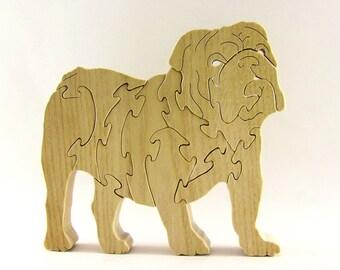 Bulldog Wood Puzzle