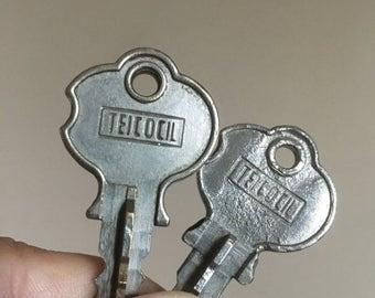 Holiday Sale. Vintage Pair of Teicocil Keys