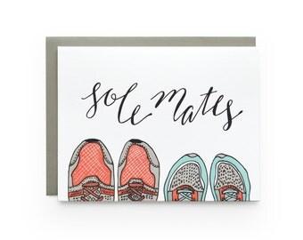 Sole Mates - letterpress card
