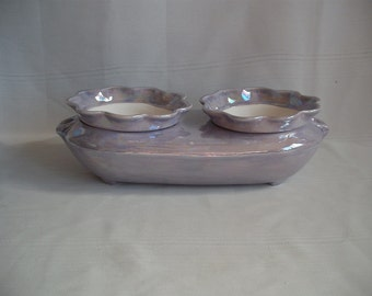 Double African Violet Pot/Planter / Mother of Pearl