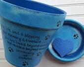 Sympathy Pet Gift - Large Planter - Dog Memorial Gift - Painted Flower Pot - Pet Memorial Planter - Cat Memorial Gift
