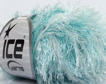 ICE YARNS COLORFUL White Mint Green 1 skein 50gr bulky polyester chunky craft rug yarn turkish us 10 82 yards  46090