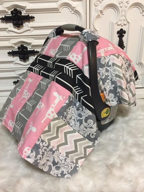 car seat cover / Deer / Plaid / OOAK / RTS / carseat canopy / nursing cover / infant car seat canopy / carseat cover