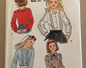Vintage Butterick 5689 Children Girls Sewing Pattern Size 7 ©1970's