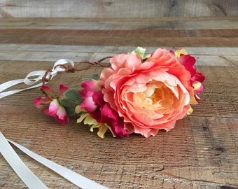 Bridal Wedding Head Wreaths,Floral Bridal Head Wreaths,Boho Bride,Music Festival Style,Floral Hair Accessories,Flower Head Wreaths,Crowns