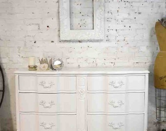 Painted Cottage Chic Shabby French Dresser/ Chest DR892