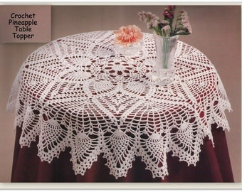 Crochet Pineapple Table Cloth Pattern - 28 Inches Diameter - PDF 24400417