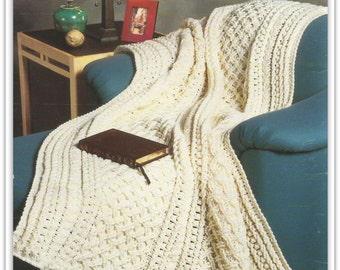 Aran Afghan Crochet Pattern - PDF AR147092 - Pattern is in English