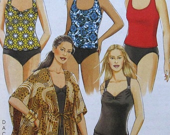 Two Piece Swimsuit and Coverup Sewing Pattern UNCUT McCalls M5674 Plus Size 26w-32w