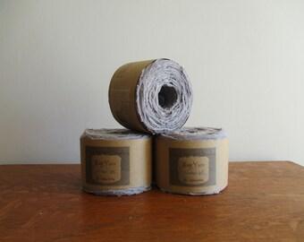 Rag yarn, Cotton Rag, Fiber Arts supplies, Medium Gray