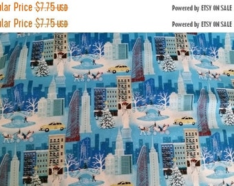 Gorgeous Xmas Holiday Season in NY Fabric--from Movie FROZEN--Hard Find---So Cute-- Hard Find