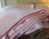 """Shiny Pale Pink Satin Fabric, 2 1/2 yards, 44"""" wide with Matching Pink Thread"""