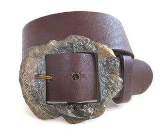 Vintage Heavyweight Brutalist Buckle Belt