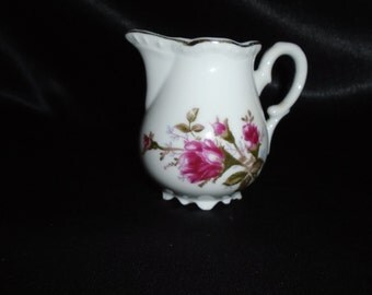 Vintage Mid Century Moss Rose Creamer Mint Replacement Piece