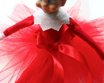 EXCLUSIVE to Petite Peanut-- ELF Mini Tutu- (Made to order)- Christmas Holiday