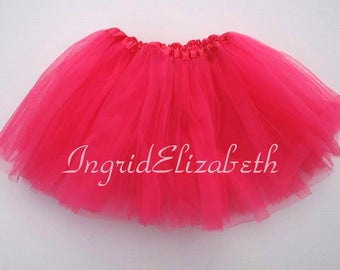 Neon Pink Tutu BALLET Skirt / FAST SHIPPING / Child Toddler Costume, Birthday Tutus, Dress Up tutus, Dance tutu, Princess tutu