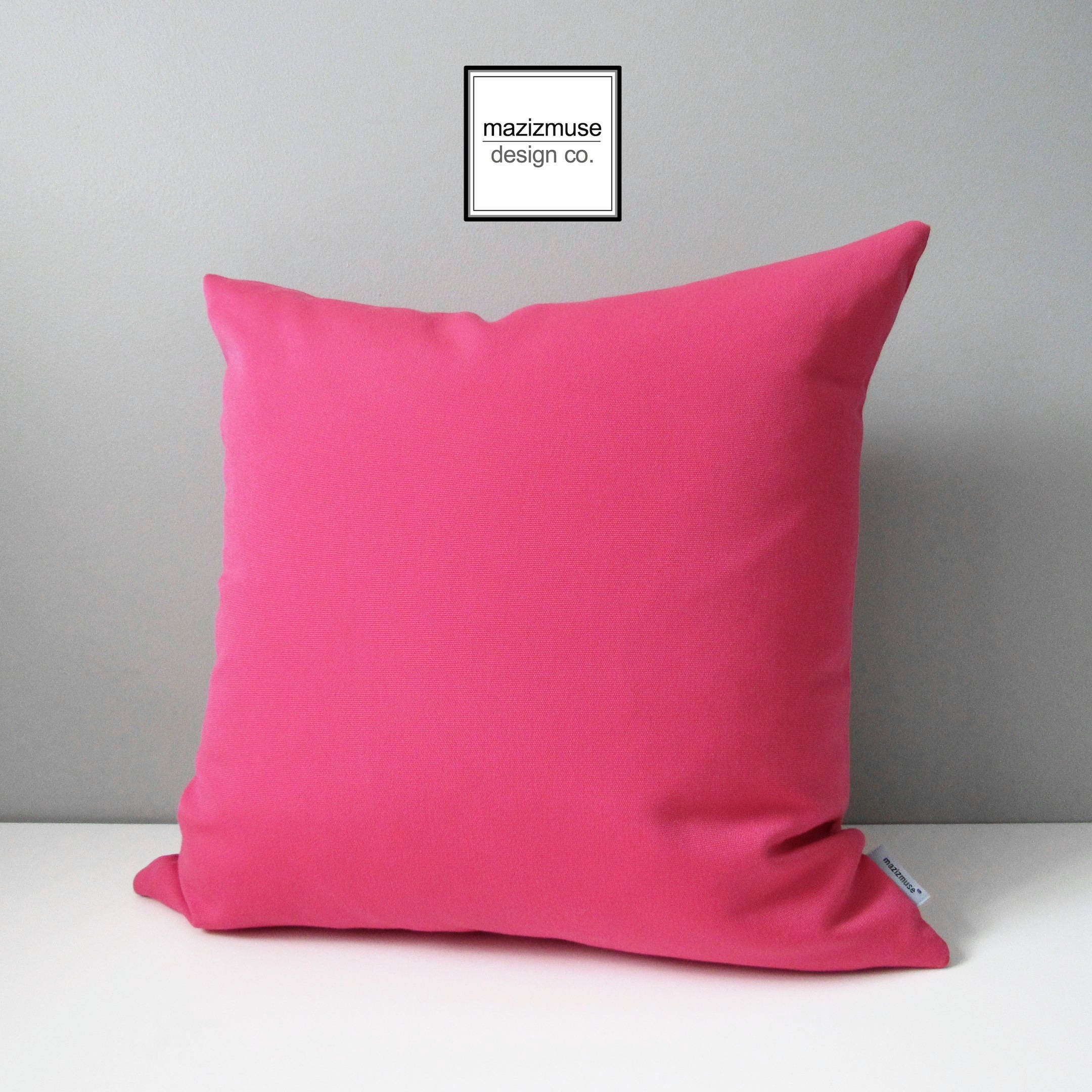 hot pink outdoor pillow cover decorative pink pillow case - 🔎zoom