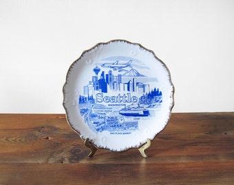 Seattle Souvenir Plate Washington State Wall Art