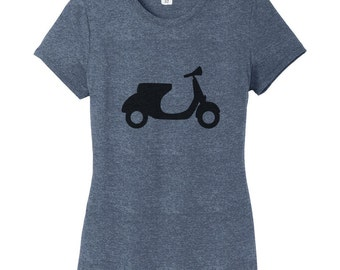 Motor Scooter - Moped Scooter Bike Women's Fitted T-Shirt