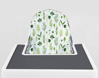 Leaves Zig Zag // IKEA Antilop Highchair Cover // High Chair Cover for the PYTTIG Cushion // Pillow Slipcover