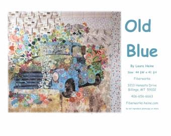 Old Blue Pick Up Truck Laura Heine Fiberworks Inc Fused Collage Art Quilt Pattern