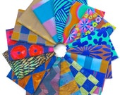 Black Friday SALE Kaffe Fassett - Artisan (cool) - Fat Quarter Fabric Bundle - 15 print/woven/batiks