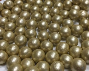 Bulk Package 1000 6mm Gold Fondant Edible Pearls Quantity of 100 pearls Pre Black Friday Sale