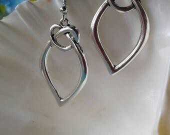 Large Love Knot Heart Earrings