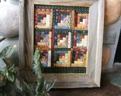 RESERVED for Georgia 3 Log Cabin Quilts Framed In Rustic Barnwood (Item #124)