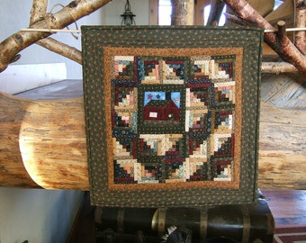 Cabin In The Woods Quilted Wall Hanging (Item # 122)