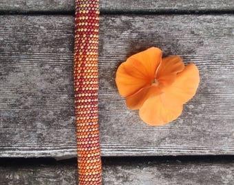 Single Stitch Bead Crochet Pattern Fabric Weave Series No 1 & How to Crochet Instructions