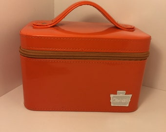 Orange Caboodle Cosmetic Hard Tote with Mirror