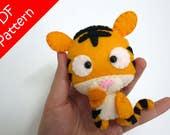Tiger Plush PDF Pattern -Instant Digital Download