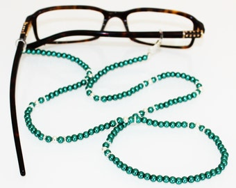 Pearls of Wisdom Glasses Holder || Emerald Green