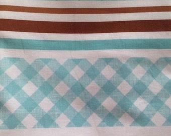 Sew Cherry Original Aqua blue stripe fat quarter by Lori Holt of Bee in my Bonnet for Riley Blake OOP HTF