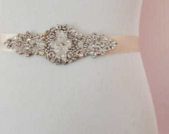Jamie Victorian Bridal Brooch Art Deco Bustier Wedding Dress Sash Jewelry Crystal Belt