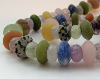 Multi Stone Colourful Chunky Bead Necklace