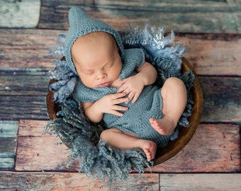 PDF Knitting Pattern - Knit Onesie Pattern - Newborn Photo Prop Pattern